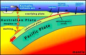 Convergent boundary between Pacific Plate and the Australian Plate, USGS