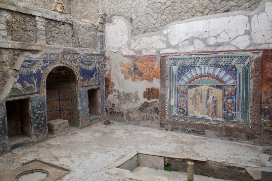 Herculaneum room restored