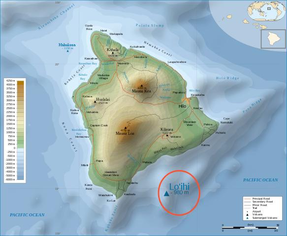 Loihi off coast Big Island of Hawaii