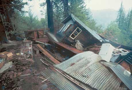 Home near the epicenter of the Loma Prieta earthquake in California. USGS