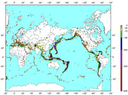 Map of earthquake zones, USGS