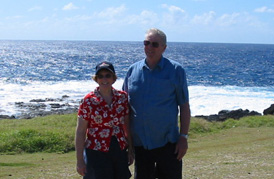 The Martins at South Point on the island of Hawaii
