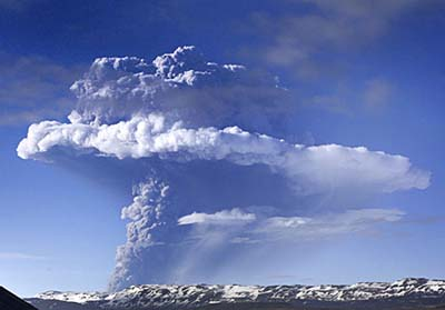 Grimsvotn erupting, USGS