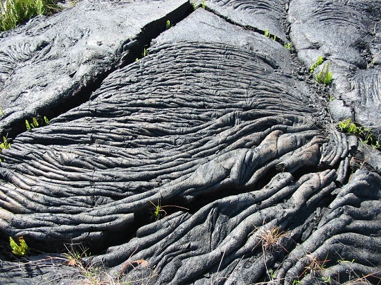 Pahoehoe lava flow on the Island of Hawaii, Myrna Martin