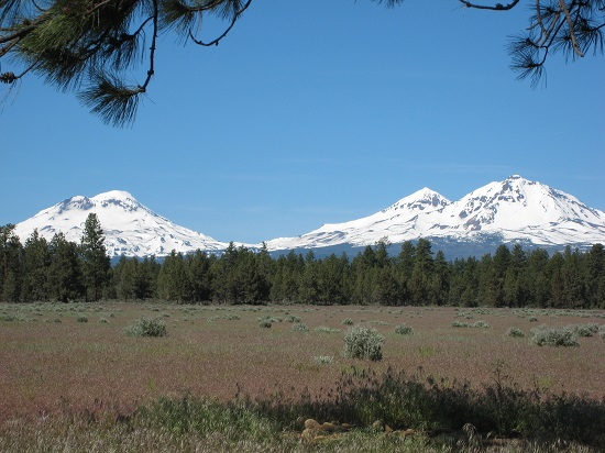 Three Sisters part of the Cascade Volcanic Arc in Oregon