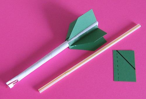 Paper rockets, Photo by Myrna Martin
