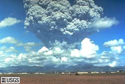 Mount Pinatubo erupting, USGS