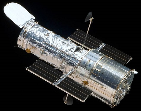 Hubble Space Telescope in space