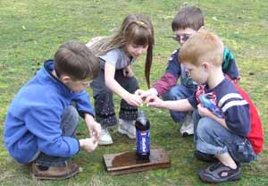 Mentos science experiment, Photo by Myrna Martin