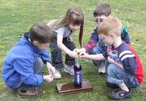 Mentos science experiment, Photo by Myrna Martin
