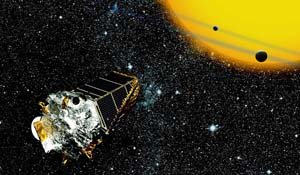 Kepler space telescope looking for planets, NASA