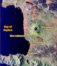 Vesuvius eruption, NASA