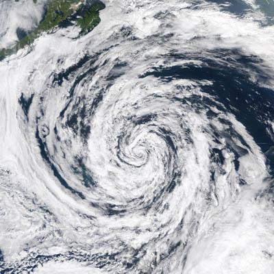 Hurricane in Gulf of Alaska, NOAA